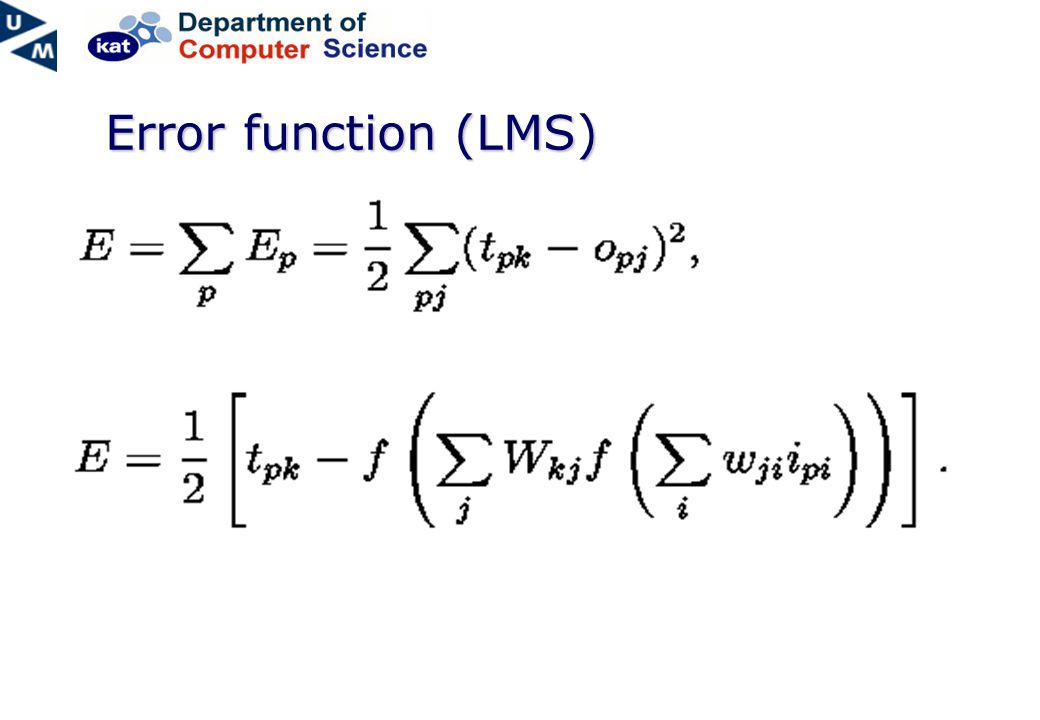 Error function (LMS)
