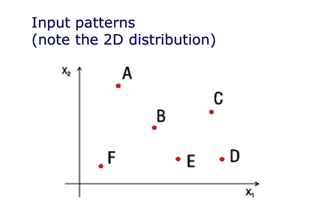 Input patterns (note the 2D distribution)