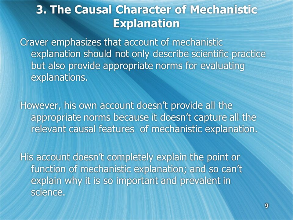10 3.The Causal Character 3.1 What is the explanandum phenomenon.