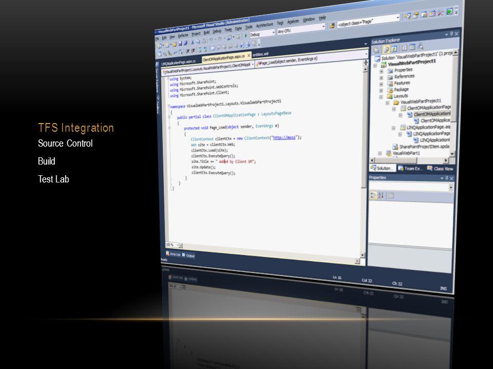 TFS Integration Source Control Build Test Lab