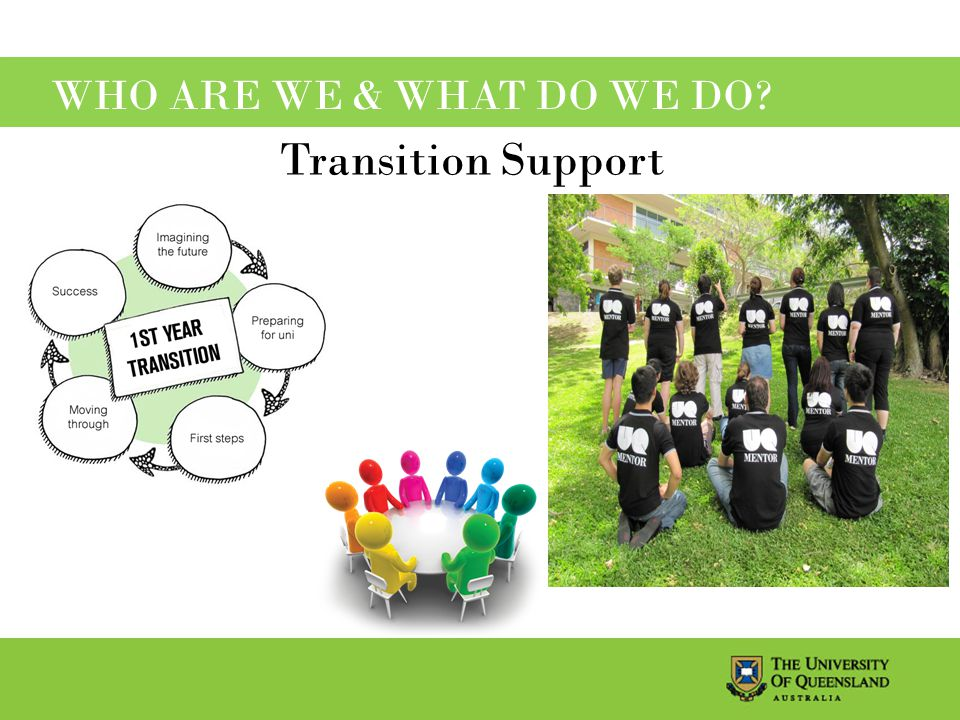 WHO ARE WE & WHAT DO WE DO Transition Support