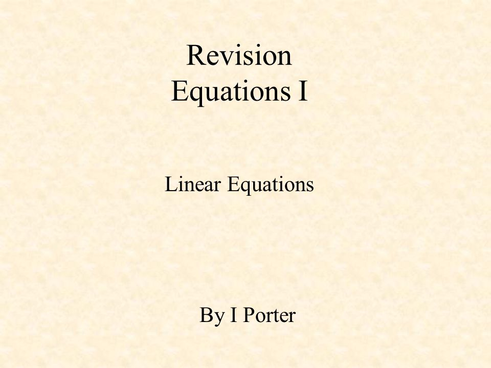 There are two main methods of solving linear equations: Balanced Method Removalist Methods The second method is a more formal solution to solving any equation.