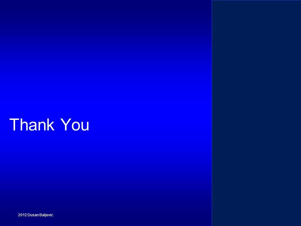 2012 Dusan Baljevic Thank You