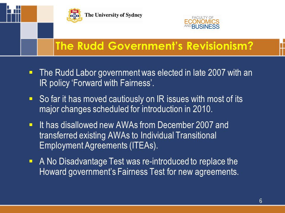The Rudd Government's Revisionism.