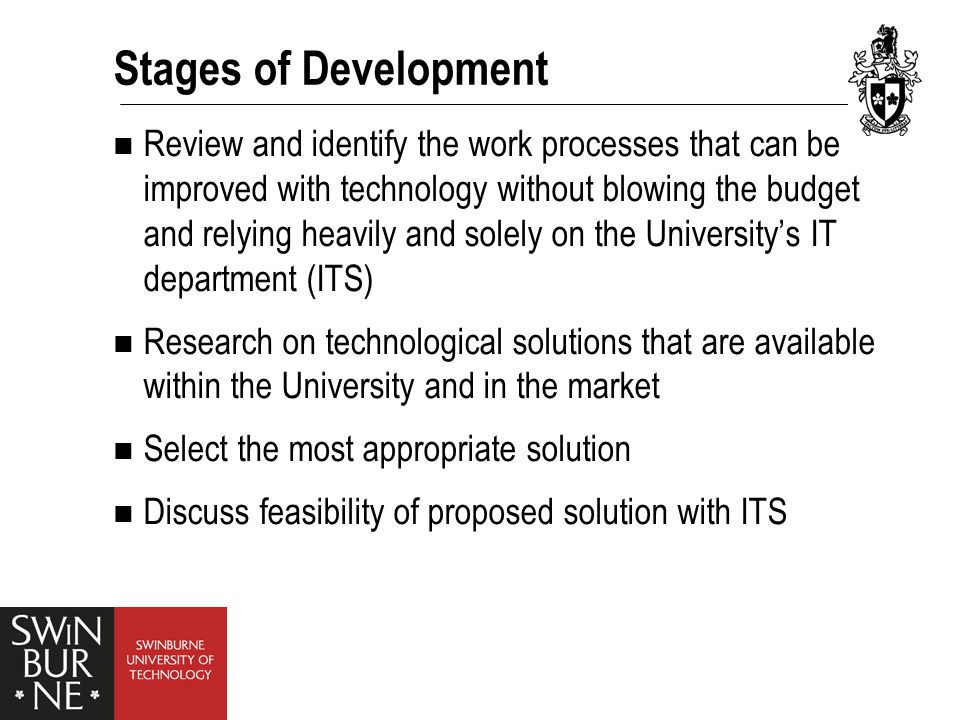 Examples of Technological Solutions Ask George Academic Transcript Intranet WIKI CISCO Webcam