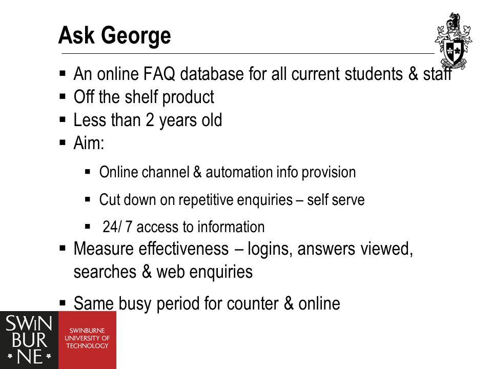 Ask George – Screen Shot Screen Shot