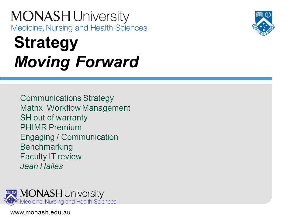 www.monash.edu.au 8 Example: Jobdesk Communication