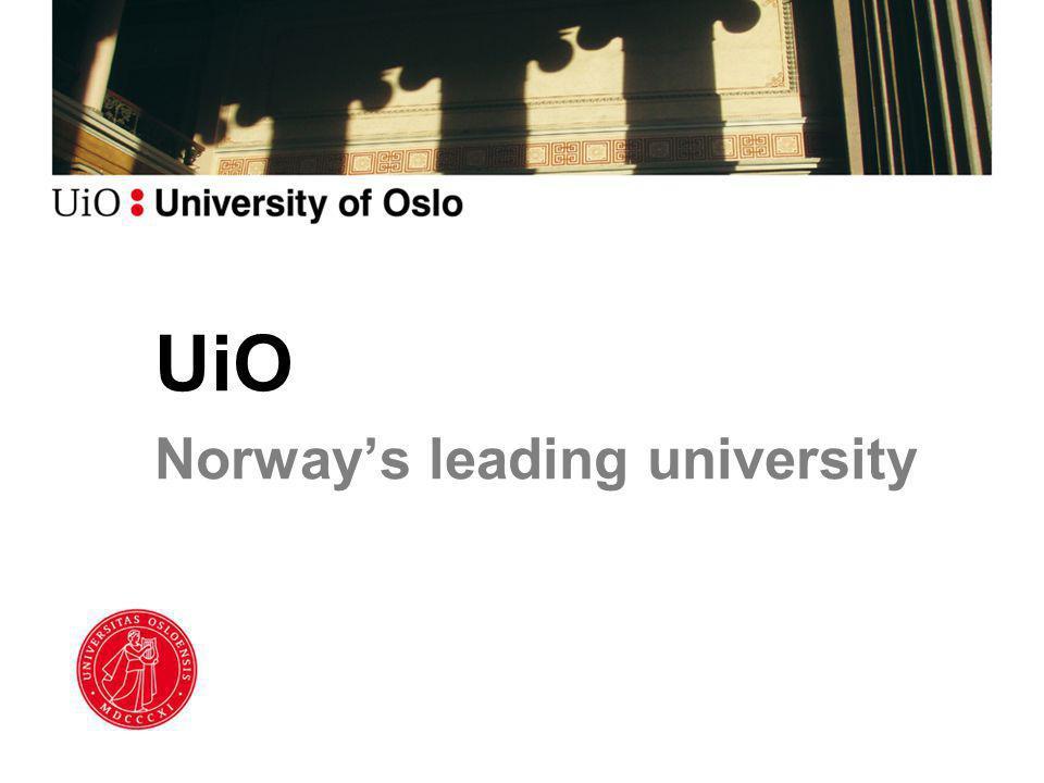 UiO Norway's leading university
