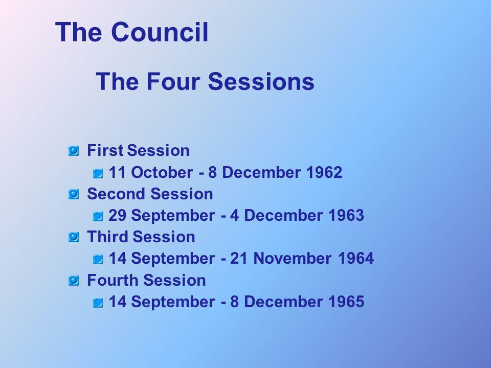 Lumen Gentium PRE-HISTORY Counter-Reformation First Vatican Council Reception by Second Vatican Council