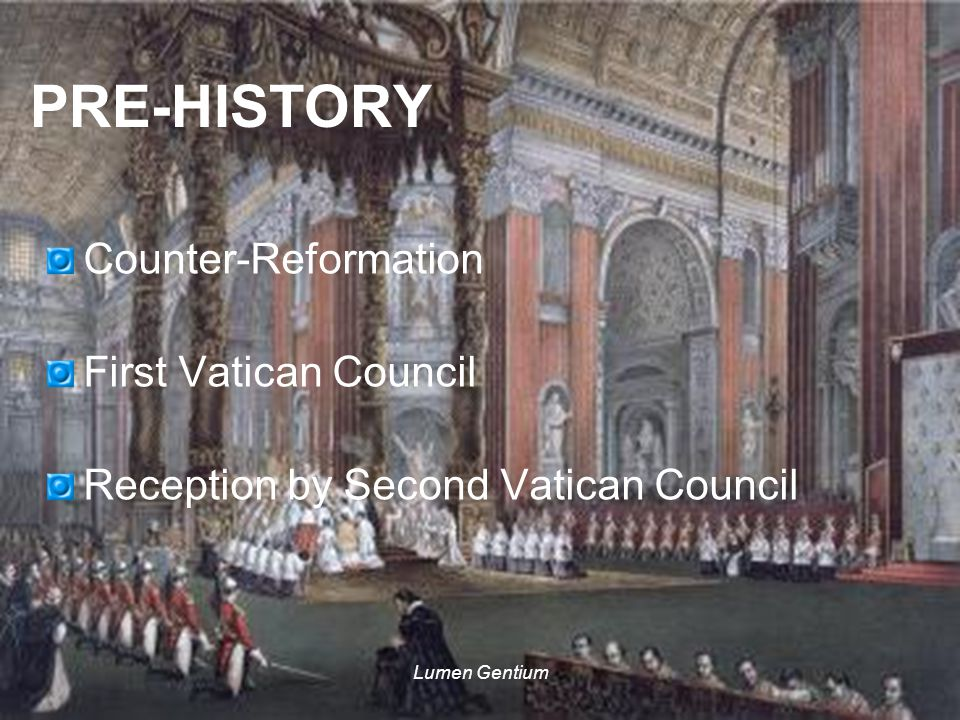Lumen Gentium COUNTER-REFORMATION St Robert Bellarmine (1542-1621) The Church is an assembly of persons united by the profession of the same faith and communion in the same sacraments under the governance of legitimate pastors and especially of the one vicar of Christ on earth, the Roman pontiff.