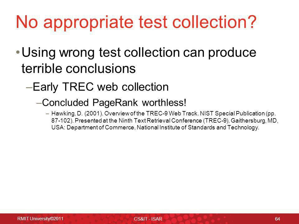 No appropriate test collection.