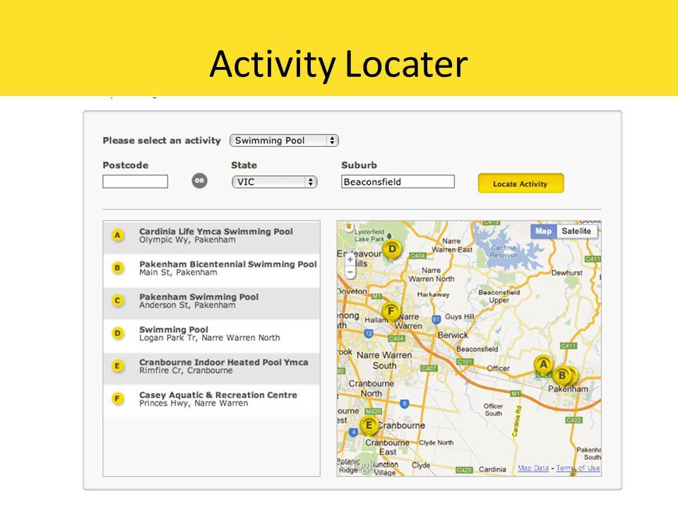 Activity Locater