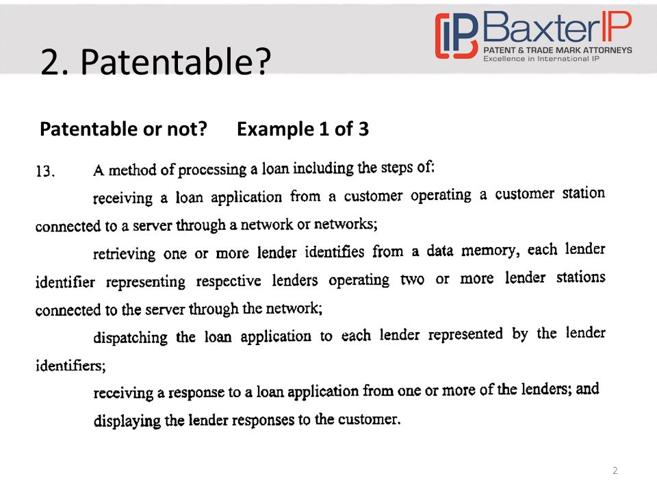Examiner approach – Step 1: Exclude computer as merely incidental – Step 2: What's been added or discovered – Step 3: Is what's been added or discovered patentable (i.e.