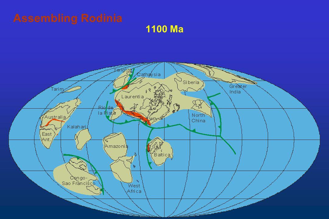1100 Ma Assembling Rodinia