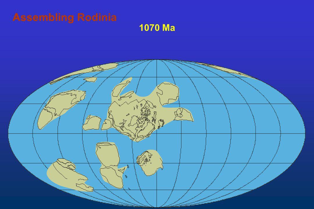 1070 Ma AssemblingAssembling Rodinia