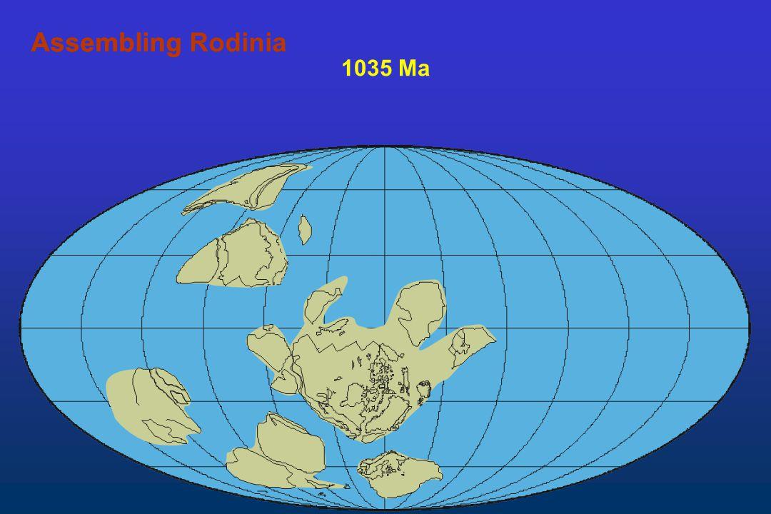 1035 Ma AssemblingAssembling Rodinia