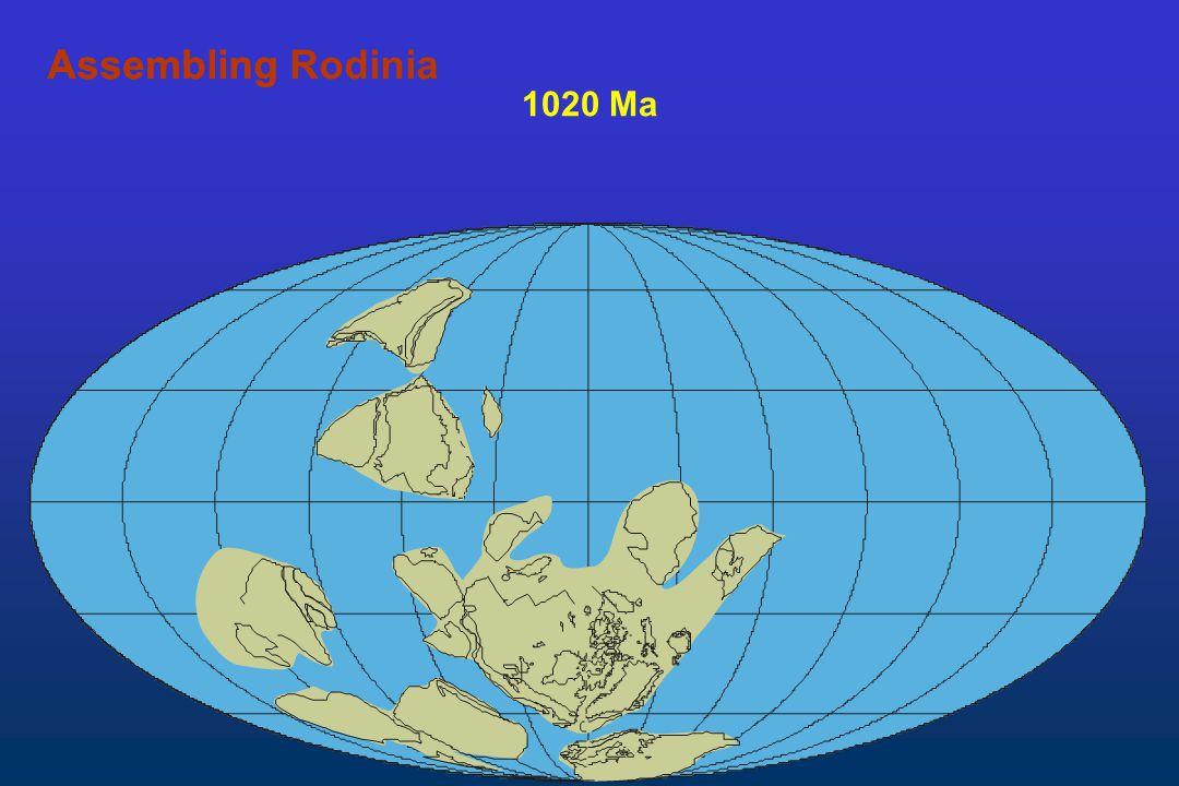 1020 Ma AssemblingAssembling Rodinia