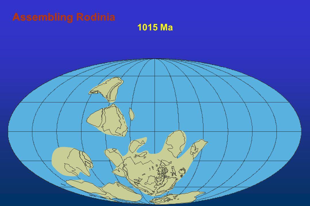 1015 Ma AssemblingAssembling Rodinia