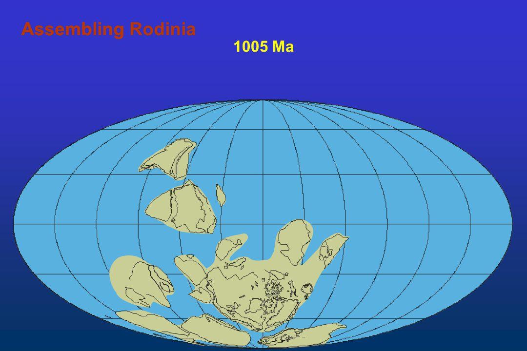 1005 Ma AssemblingAssembling Rodinia