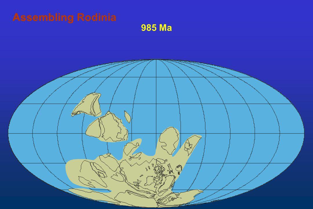 985 Ma AssemblingAssembling Rodinia