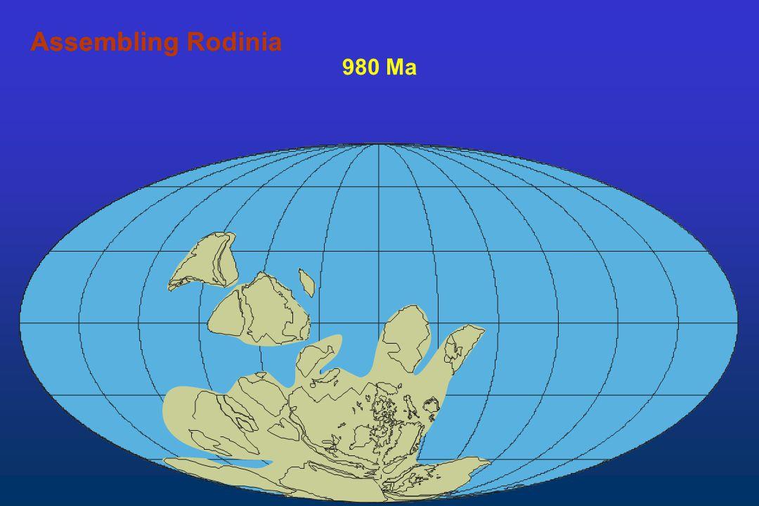 980 Ma AssemblingAssembling Rodinia