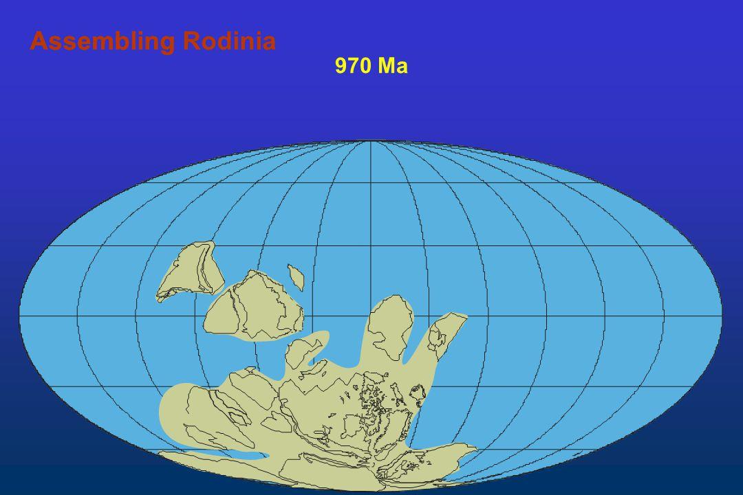 970 Ma AssemblingAssembling Rodinia