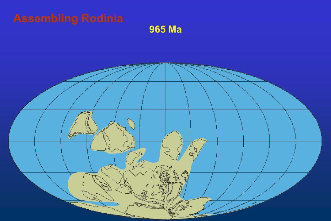 965 Ma AssemblingAssembling Rodinia