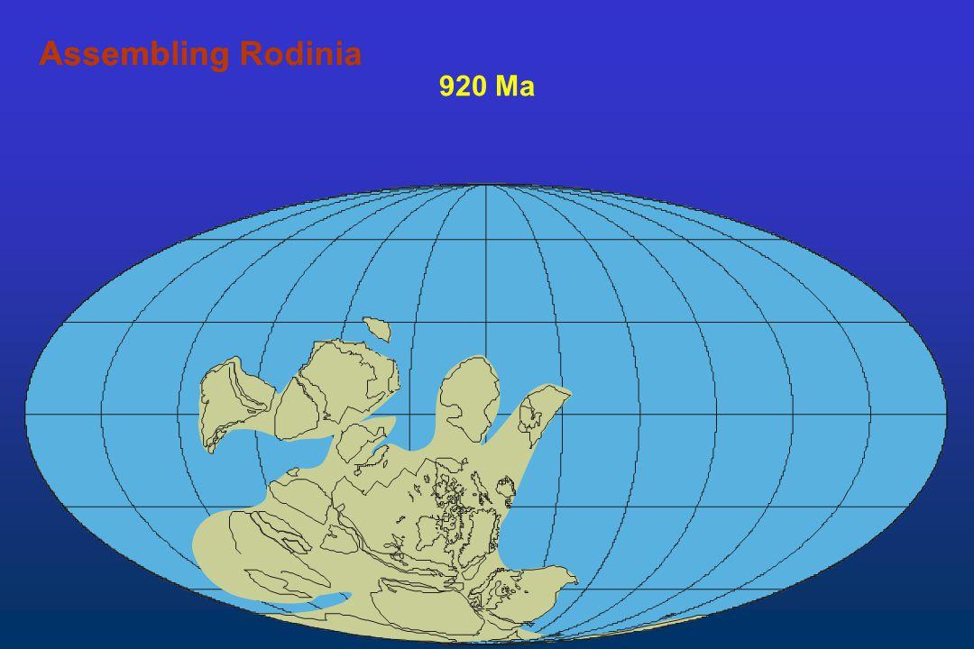 920 Ma AssemblingAssembling Rodinia