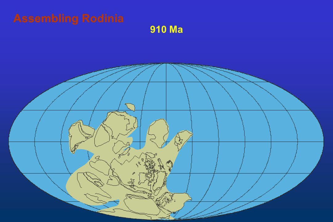 910 Ma AssemblingAssembling Rodinia