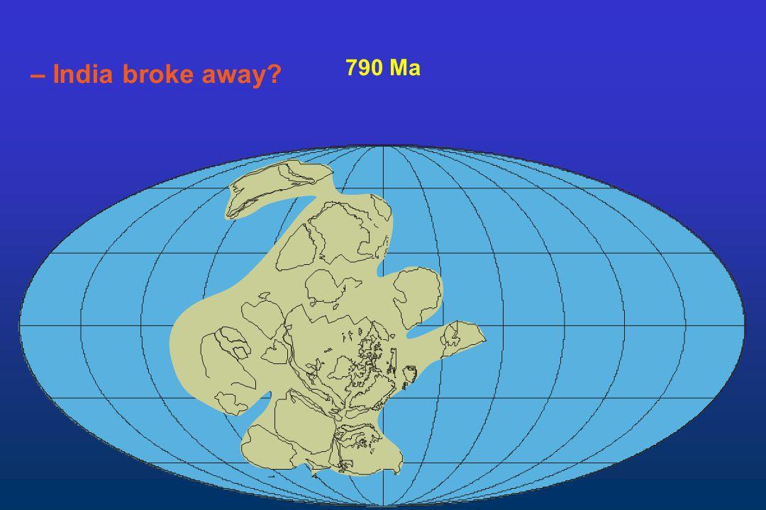 790 Ma – India broke away?