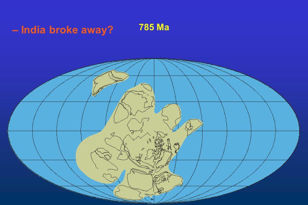 785 Ma – India broke away?
