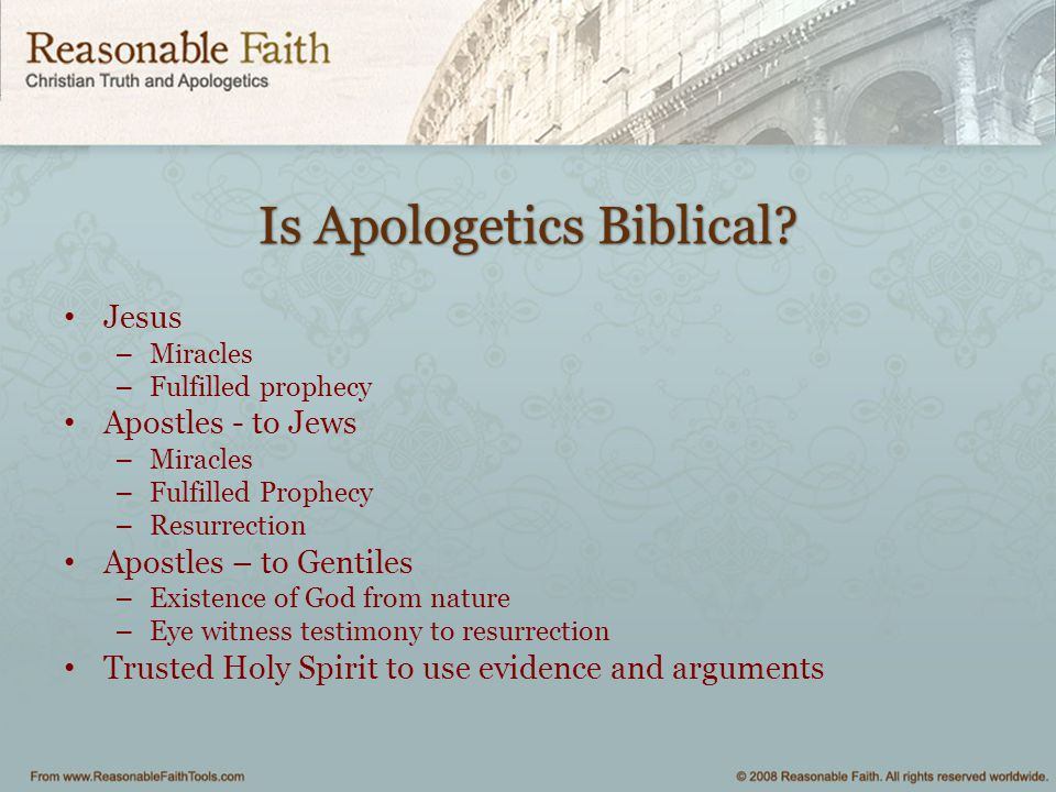 Is Apologetics Biblical.