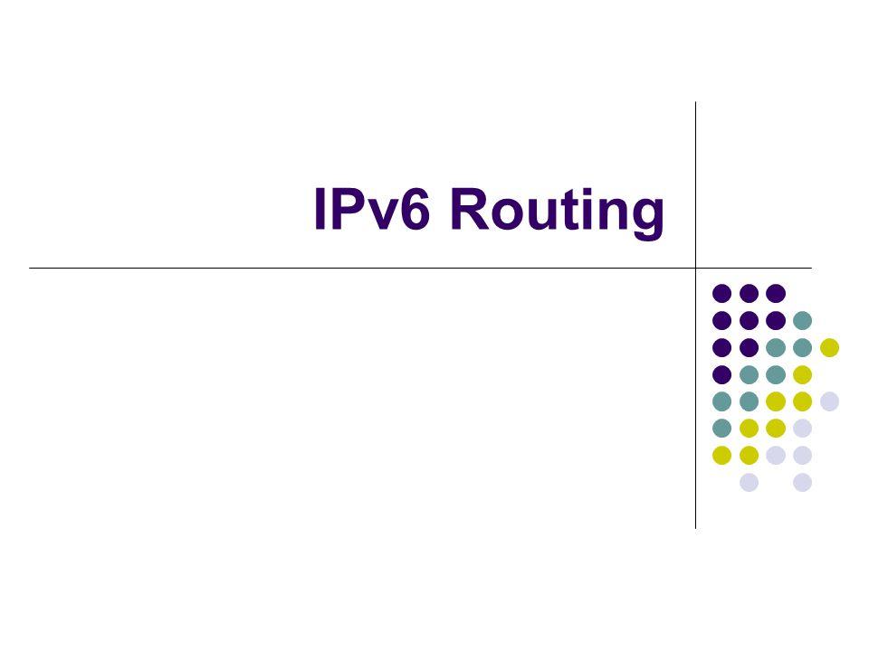 IPv6 Routing