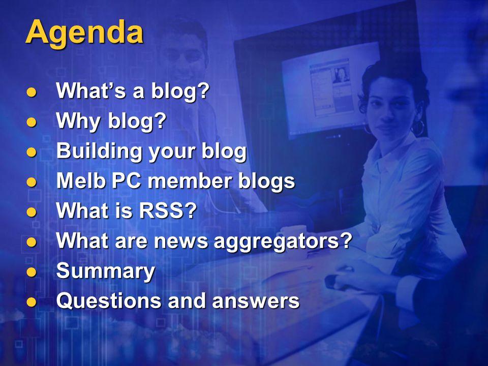 Why blog? Lloyd Borrett www.borrett.id.au