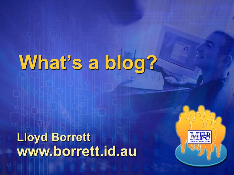 Basic blog example