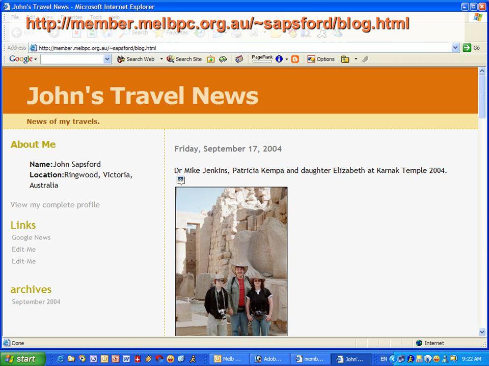 http://member.melbpc.org.au/~sapsford/blog.html