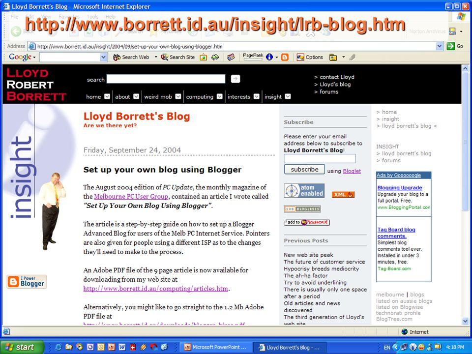http://www.borrett.id.au/insight/lrb-blog.htm