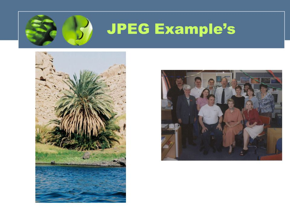 JPEG Example's