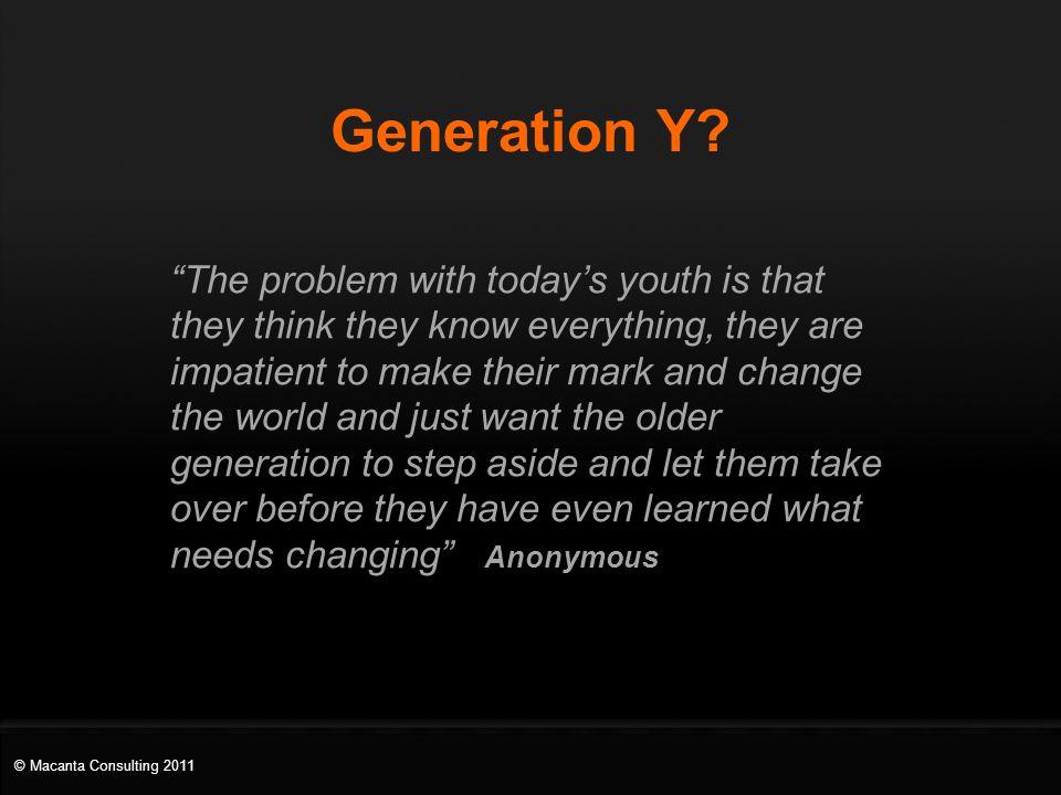 Generation Y.