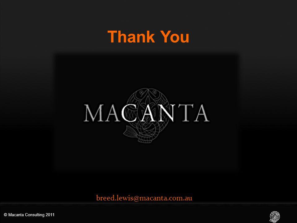 Thank You breed.lewis@macanta.com.au