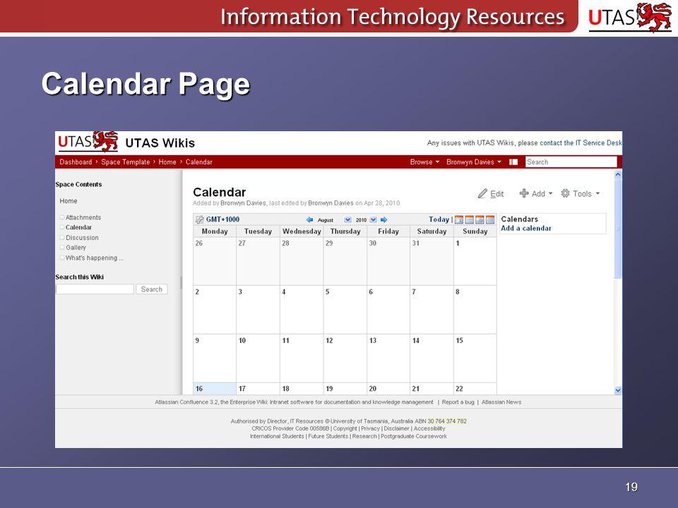 Calendar Page 19
