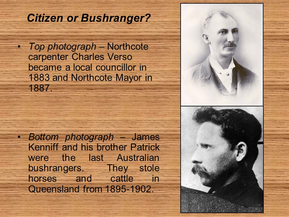 Citizen or Bushranger.