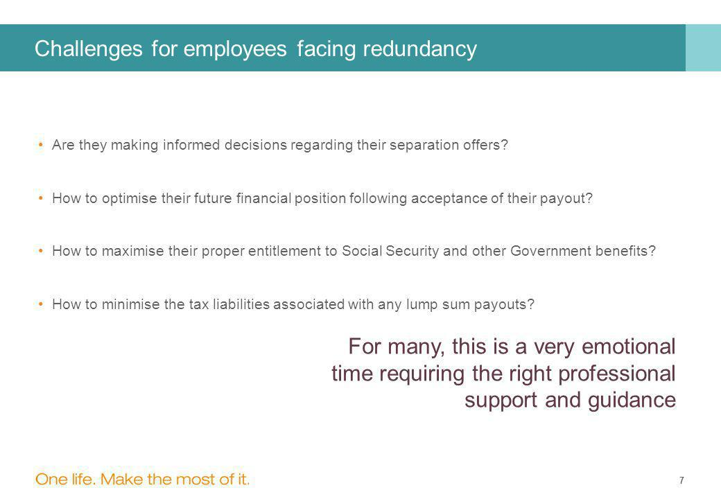 7 Challenges for employees facing redundancy Are they making informed decisions regarding their separation offers.