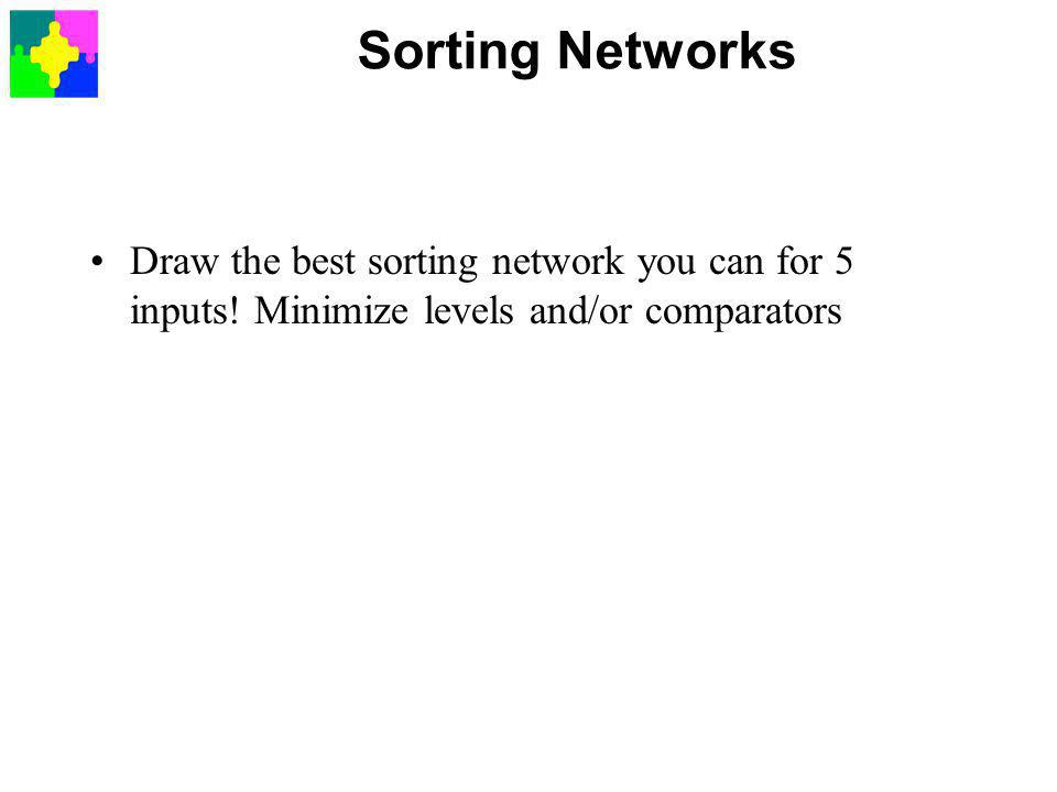 Sorting Networks Draw the best sorting network you can for 5 inputs.