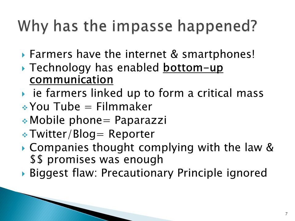  Farmers have the internet & smartphones.
