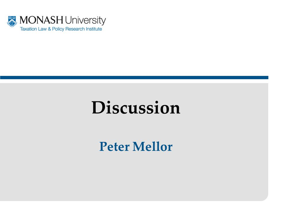Peter Mellor Discussion