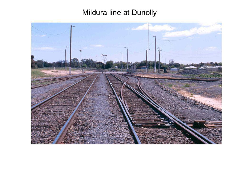 Mildura line at Dunolly
