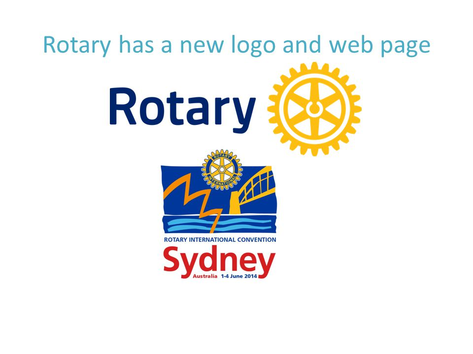 Rotary has a new logo and web page