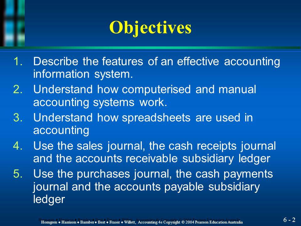 Accounting Information Systems Chapter 6 HORNGREN ♦ HARRISON ♦ BAMBER ♦ BEST ♦ FRASER ♦ WILLETT
