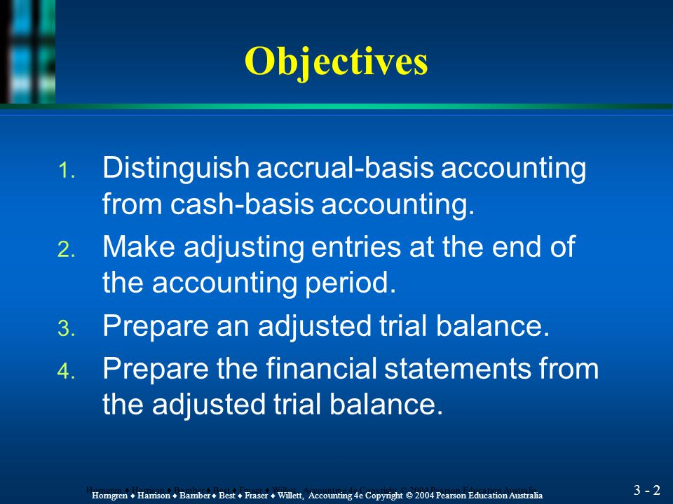 Measuring Business Profit: The Adjusting Process Chapter 3 HORNGREN ♦ HARRISON ♦ BAMBER ♦ BEST ♦ FRASER ♦ WILLETT